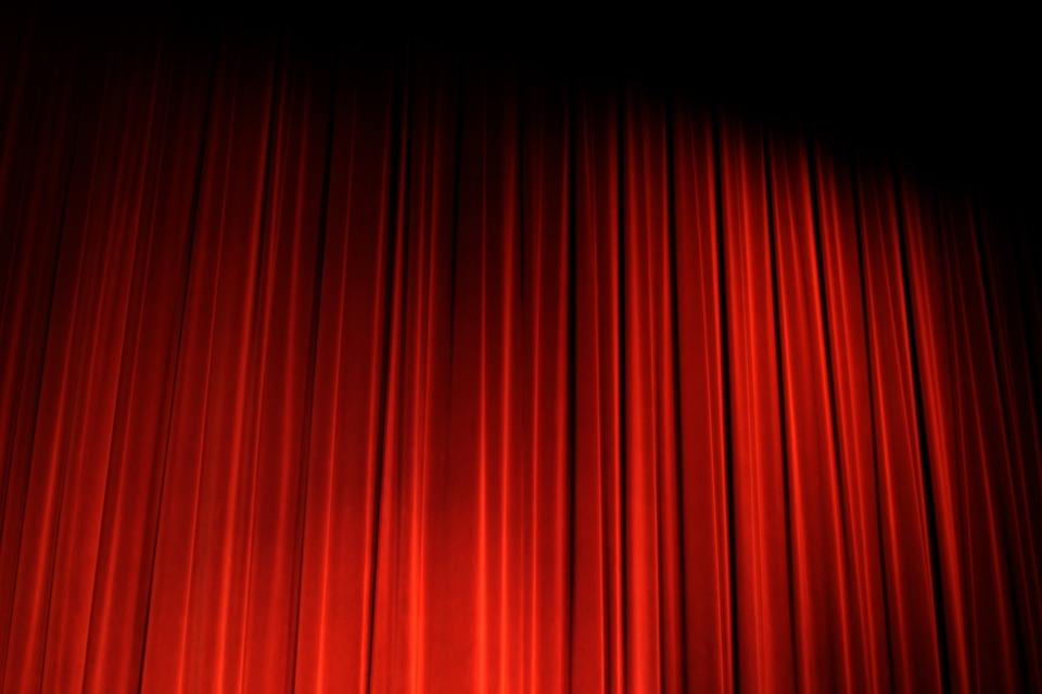 Curtain, Red, Stage, Theater, Decorative, Show