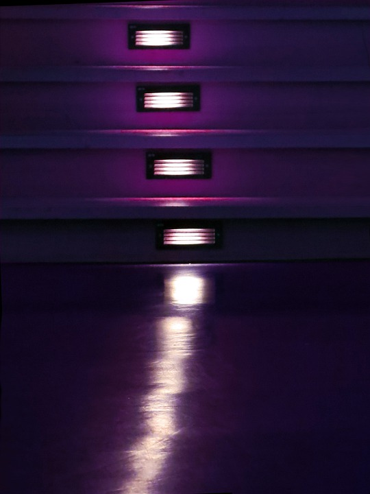Theater, Lighting, Stairs, Night, Variety, Dark Purple