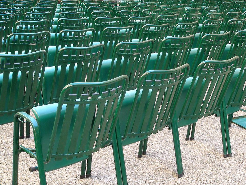 Chairs, Repetition, Spectator, Green, Cinema, Theatre
