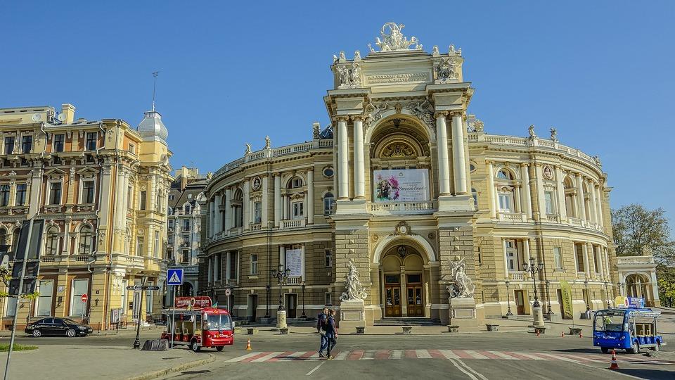 Odessa, Theatre, Morning, Sky