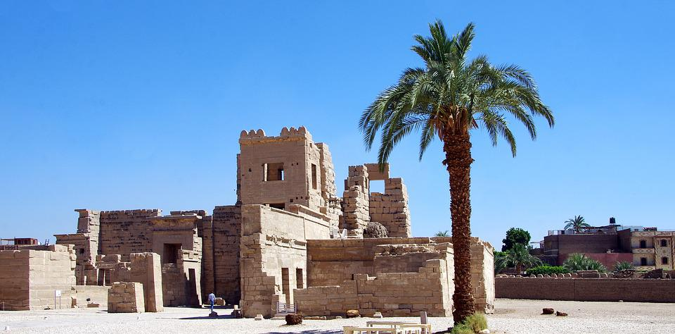 Egypt, Thebes, Medinet-habu, Luxor, Temple, Ramses 3