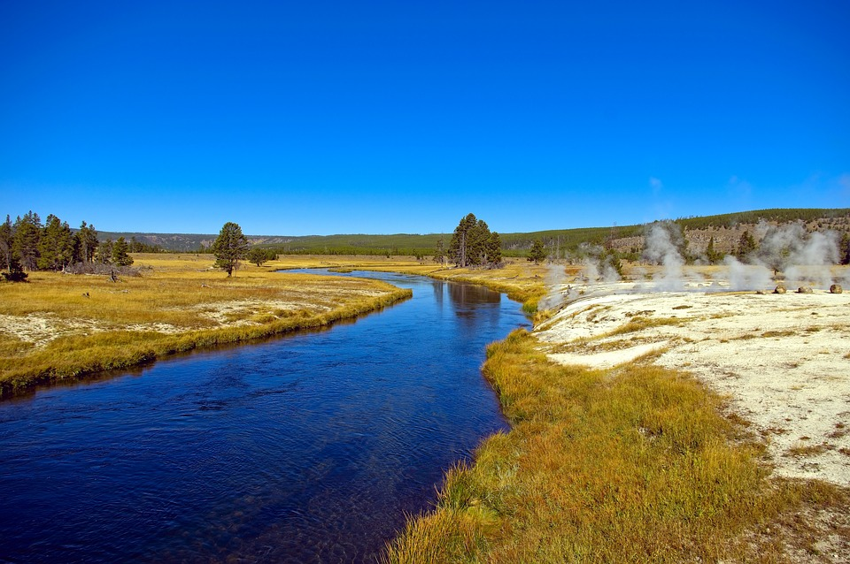 Firehole River And Hot Springs, Springs, Thermal