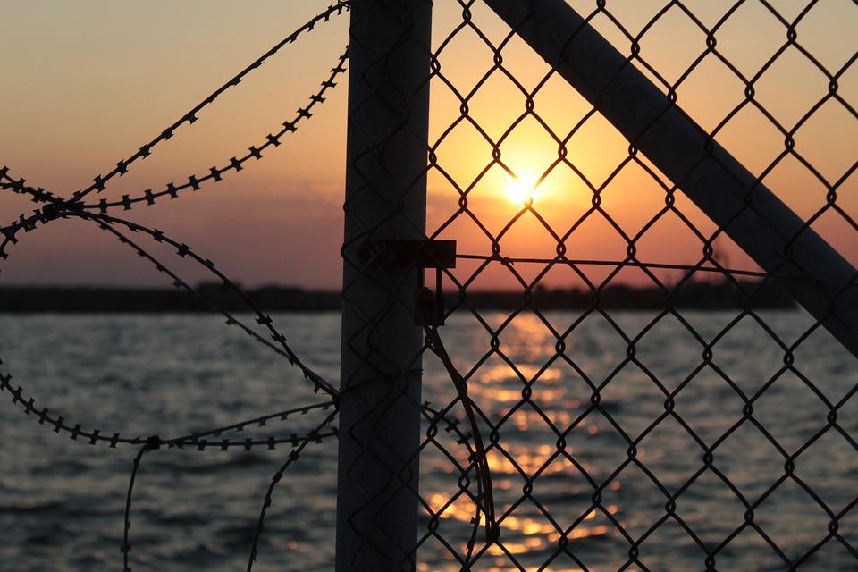 Greek, Sunset, Thessaloniki, Port, Greece, Orange, Dusk