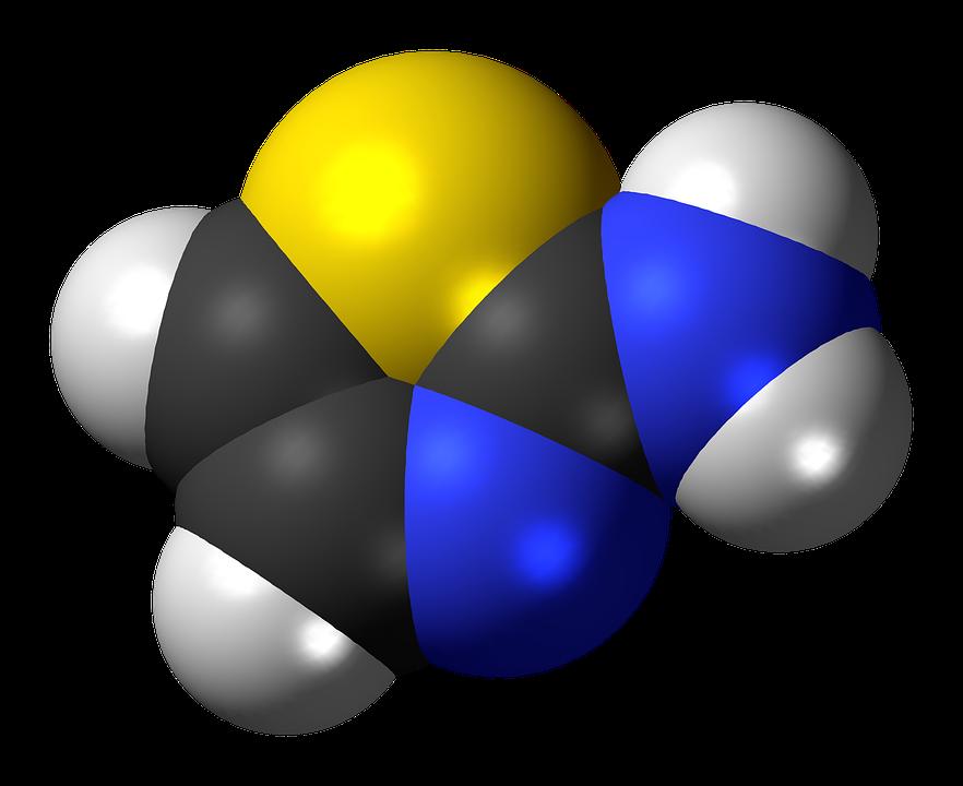 Aminothiazole, Spacefill, Model, Molecule, Thiazole