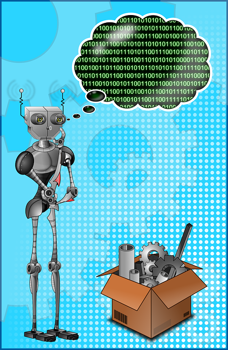 Robot, Binary, Thinker, Thought, Thinking, Computer