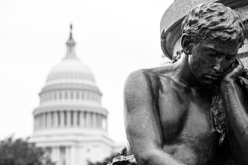 Man, Statue, Thinking, Congress, Politics, Political