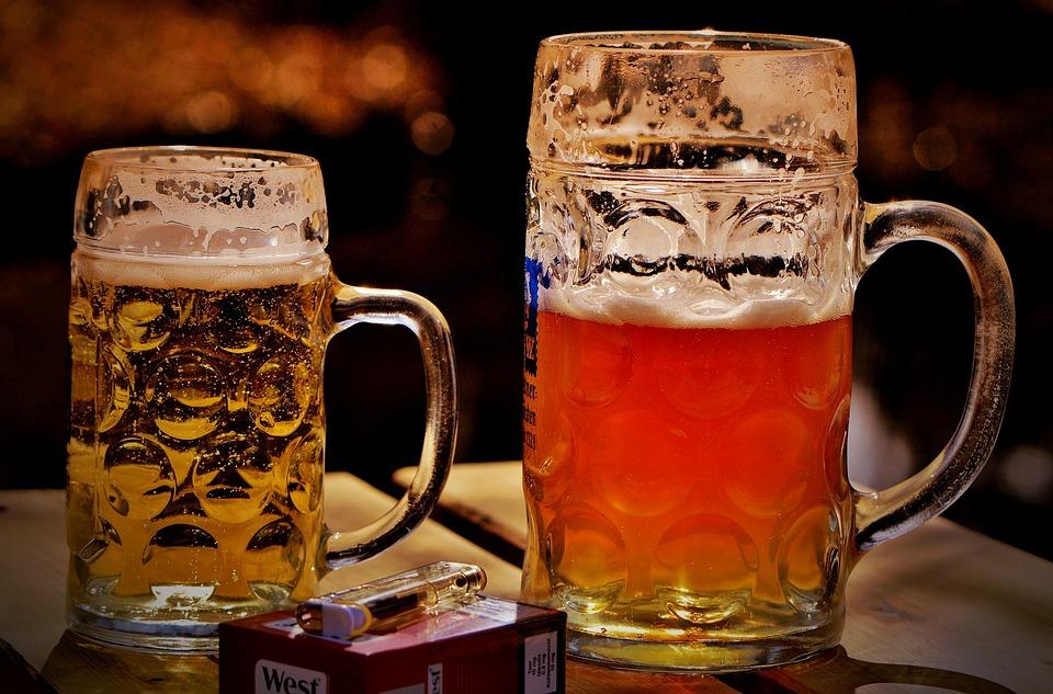 Beer, Beer Garden, Mug, Cigarettes, Lighter, Thirst
