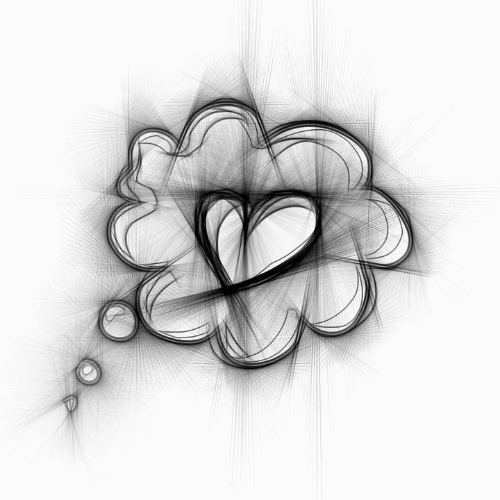 Thoughts, Love, Heart, Pencil, Abstract, Valentine