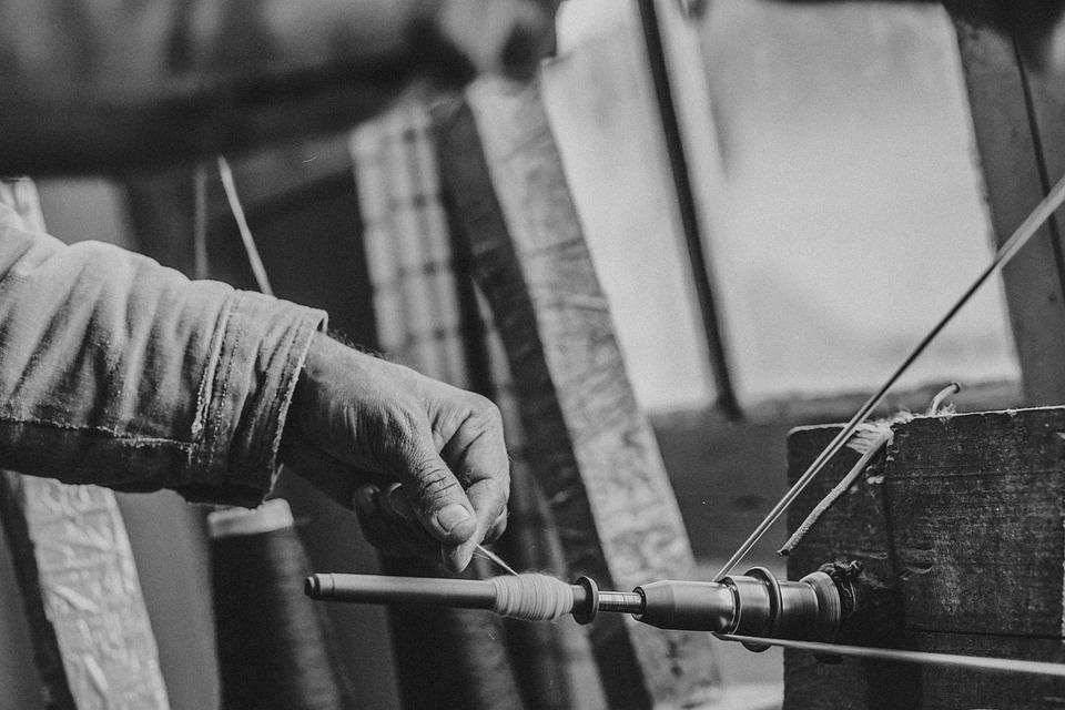 Yarn, Sew, Industrial, Thread, Factory, Hand, Work