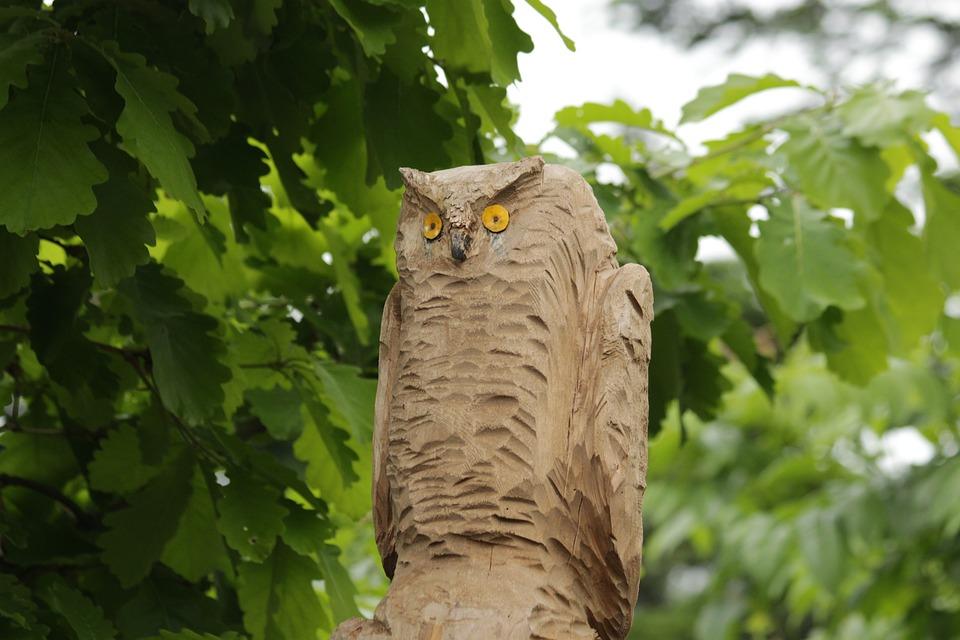 Owl, Sculpture, Wood, Figure, Clearance, Bird, Thread