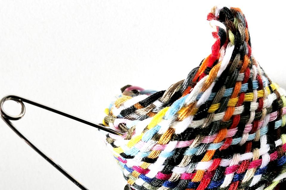 Thread, Yarn, Sewing Thread, Safety Pin, Sew, Fabric
