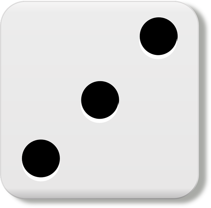 Three, Dice, Eyes, Gamble, Luck, Chance