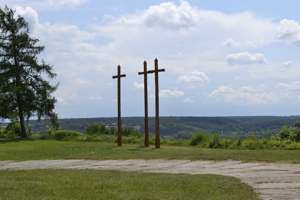 Three Crosses, Janowiec, Panorama