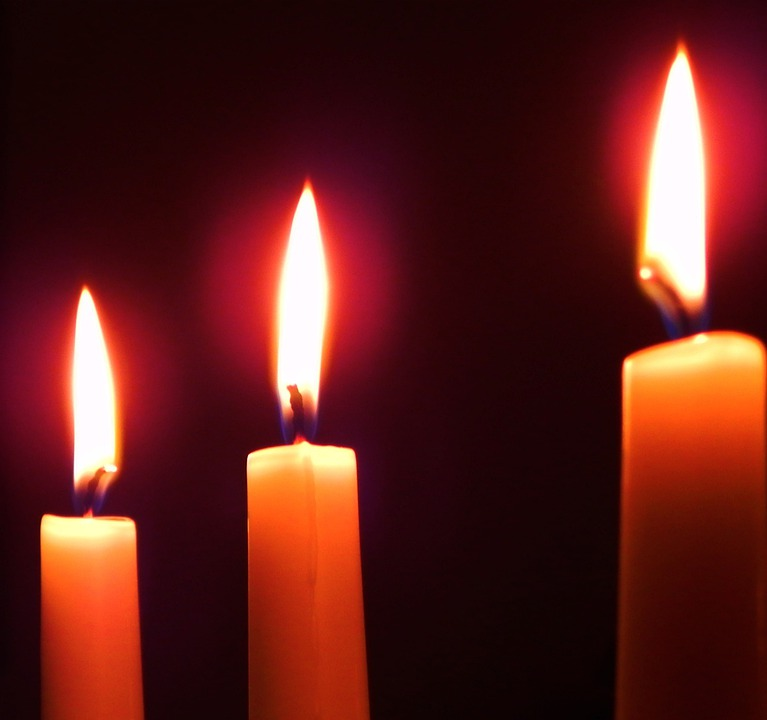 Candles, Flames, Darkness, Three, Candle, Flame, Dark