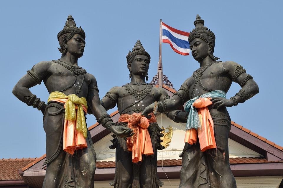 Three Kings, Chiang Mai Thailand, Thailand, Sculpture