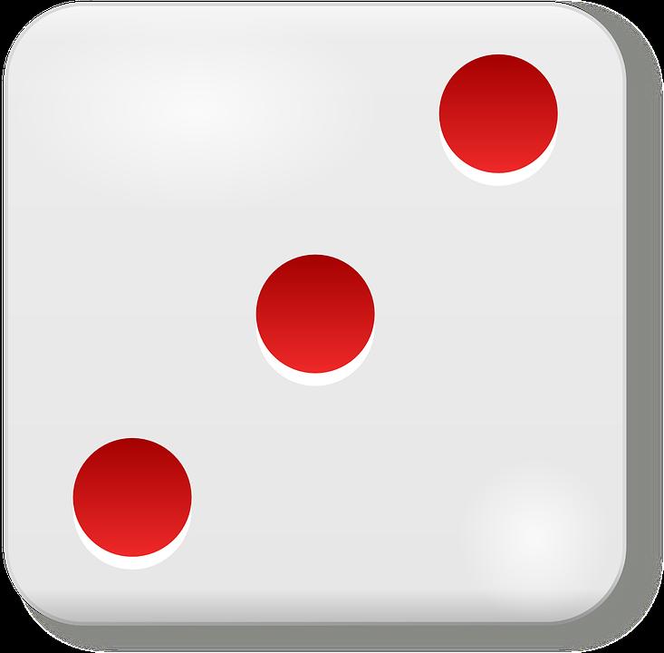 Dice, Cube, Die, Three, 3, Game, Luck, Gambling