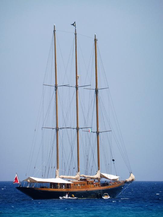 Sailing Vessel, Three Masted, Masts, Rigging