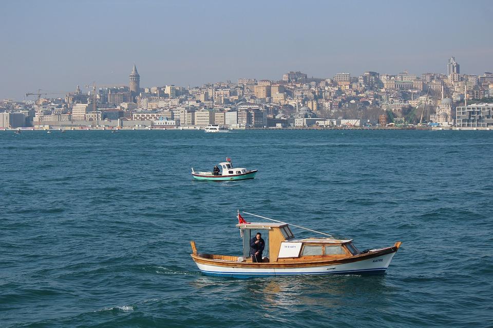 Fisherman, Boat, Hunter, Galata, Throat, Istanbul