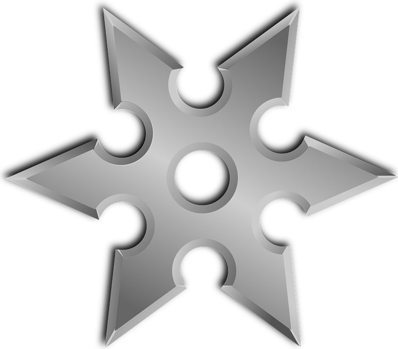 Shuriken, Throwing Star, Ninja Star, Weapon, Japanese