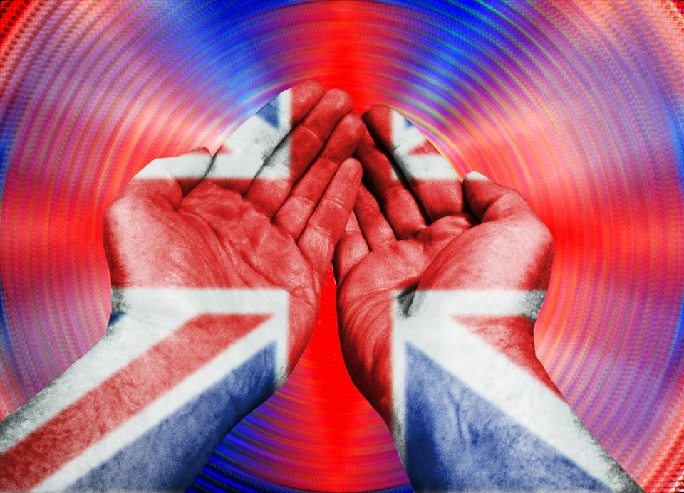 Hands, Thumbs, Pattern, Flag, Union Jack, Colors, Red