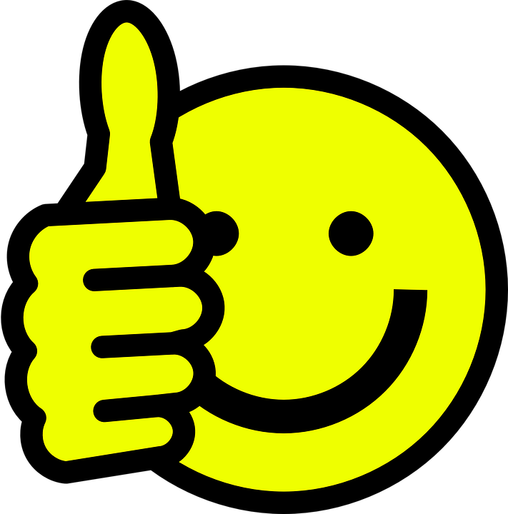 Smiley, Face, Happy, Thumbs Up, Thumb, Hand, Positive