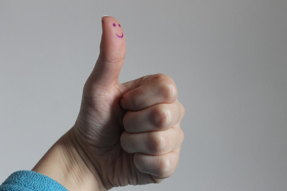 Smile, Fist, Finger, Thums, Thumbs Up, Hand, Gesture