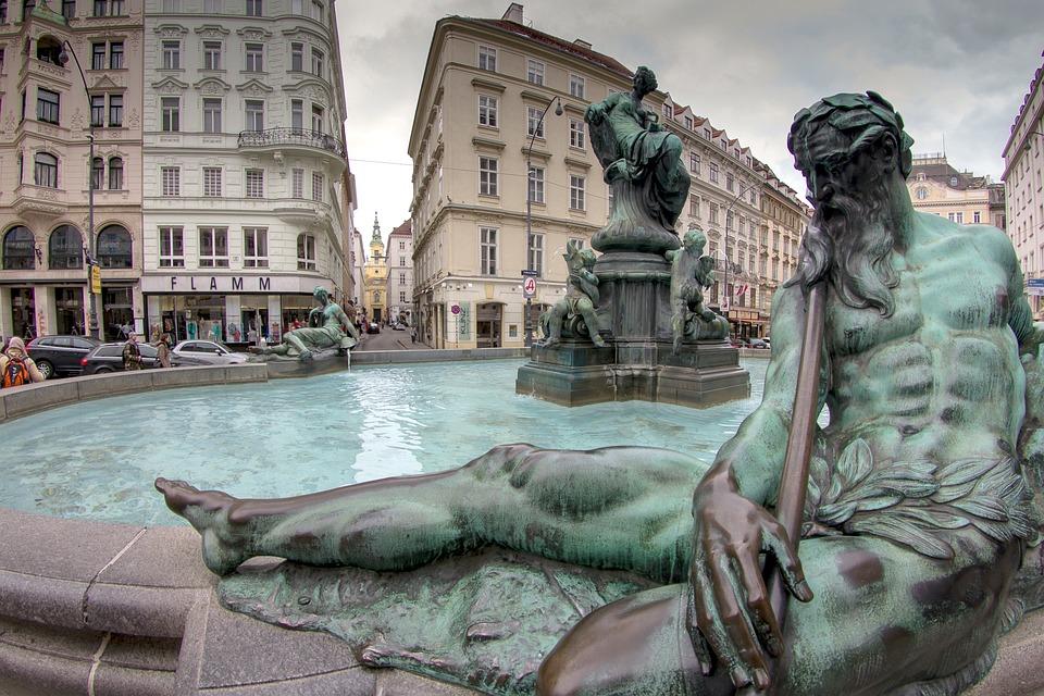 Vienna, Old Town, Neumarkt, Thundering Fountain