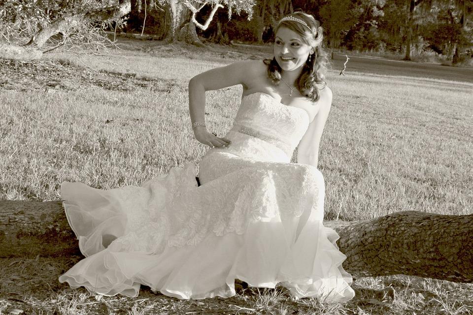 Wedding Dress, Bride, Tiara, Elegance, Romance, Bridal