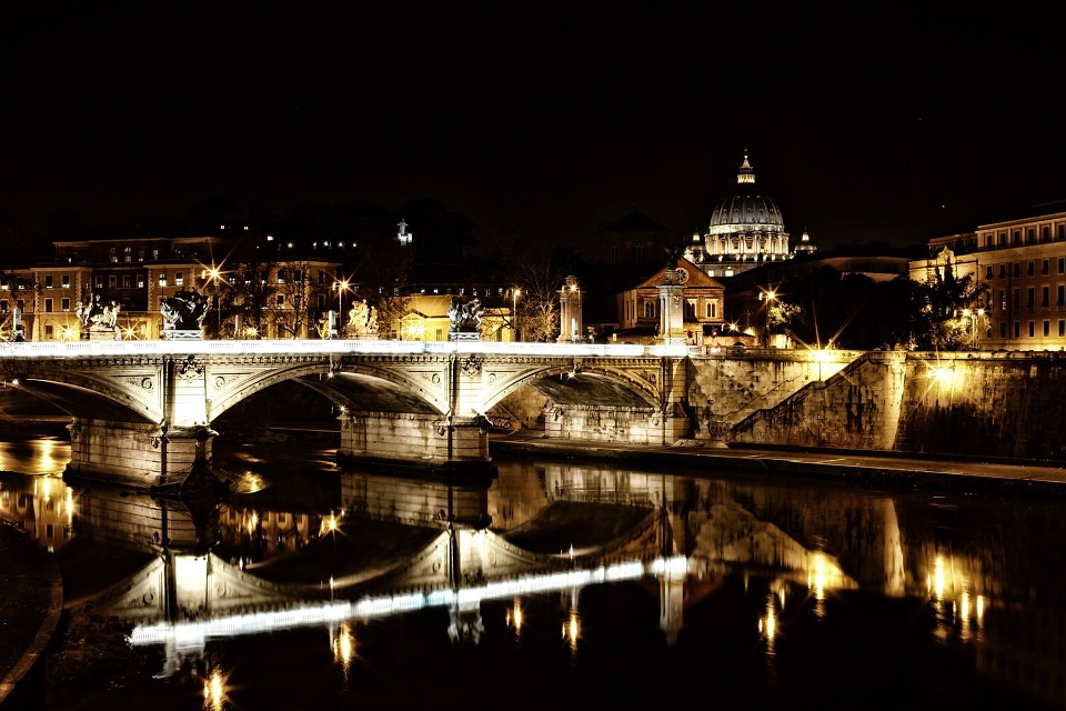 Rome, Tiber, Vatican, Tiber Castle, River, Bridge