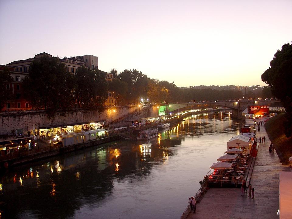 Rome, Tiber, Trastevere, River