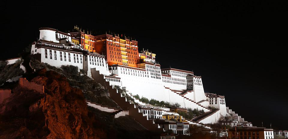 The Potala Palace, Tibet, Night, The Solemn
