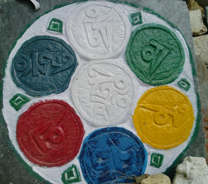 Tibetan, Font, Symbols, Buddhism