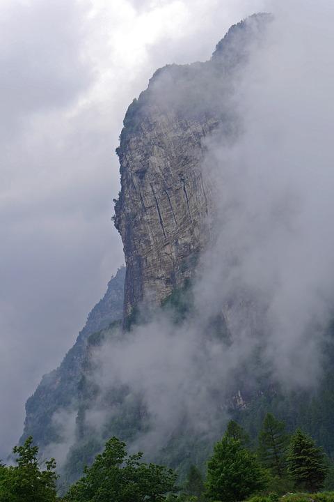 Ticino, Landscape, Fog, Mountains