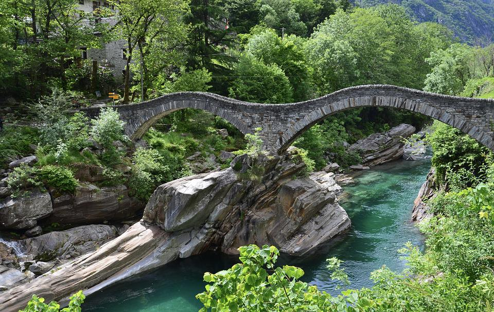 Ticino, Versascatal, Nature, Rock, Bridge, Scenic