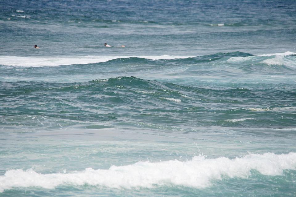 Waves, Tide, Sea, Ocean, Blue, White, Breaking