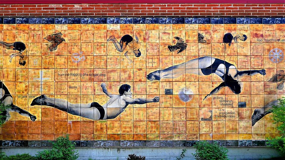 Free Photo Tile Art Soar High Dive Mural Wall Ceramic Fly Max Pixel