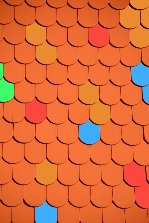 Roof, Brick, Roofing, Tile, Colorful, Red, Housetop