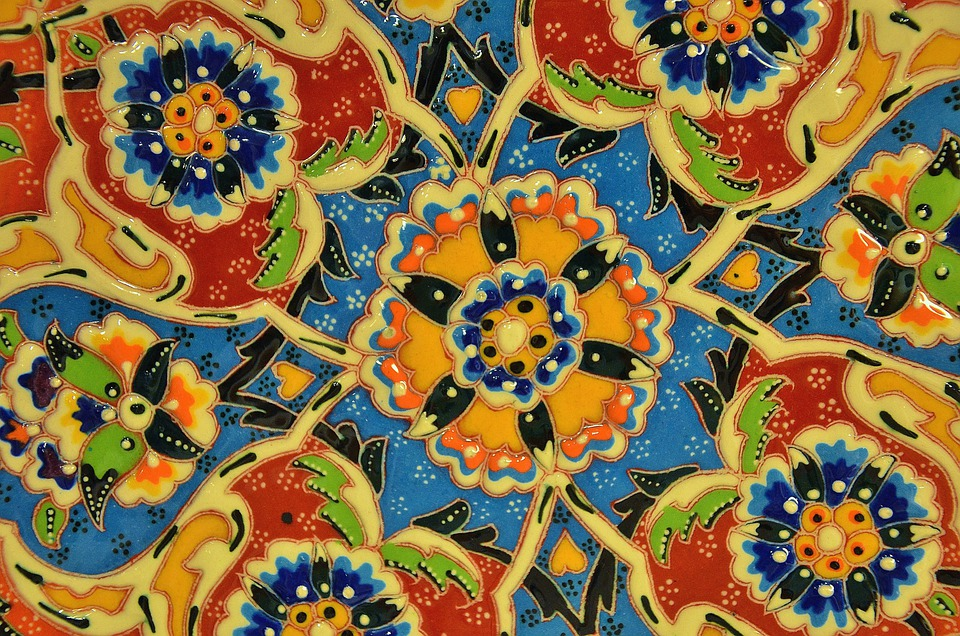 Mosaic Tile Art Ceramic Colorful Decorative