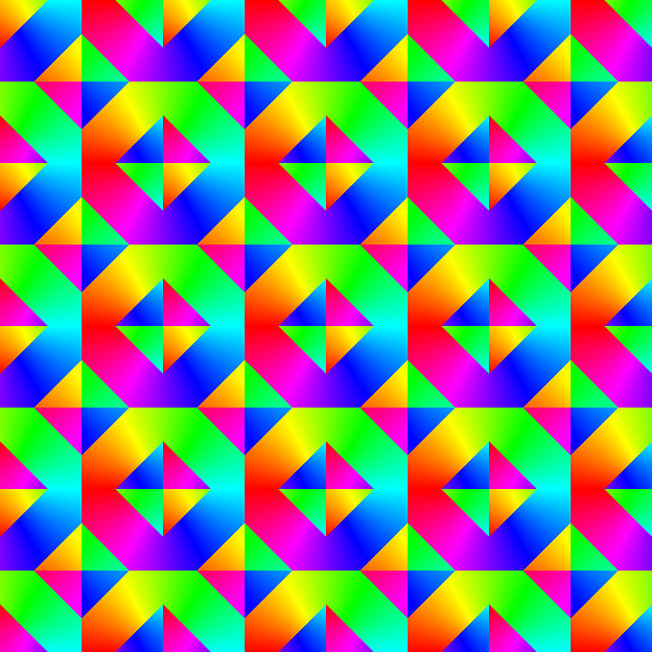 Colorful, Tile, Seamless, Geometric, Abstract, Digital
