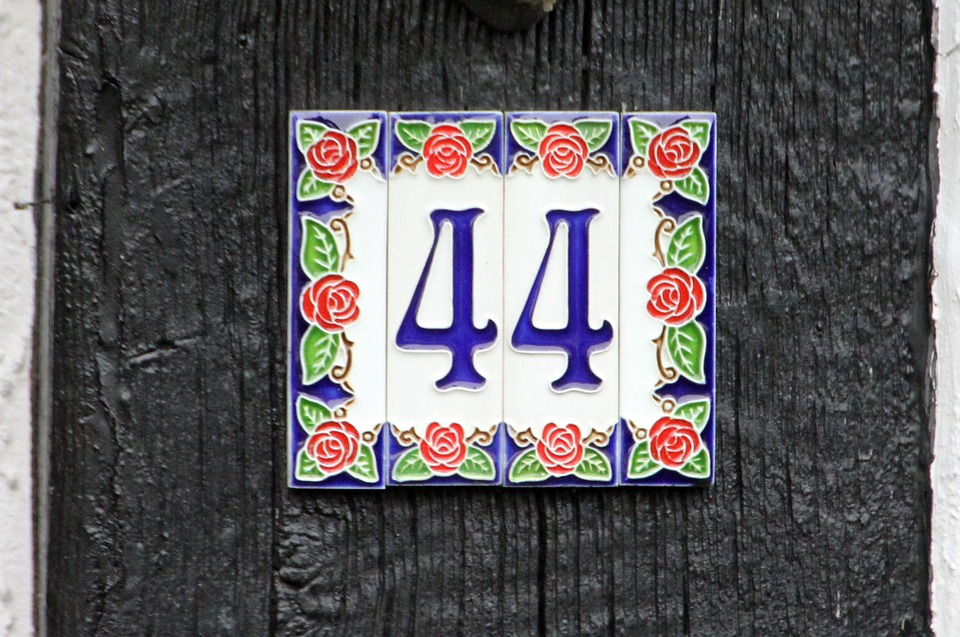 House Number, Number, Pay, Digits, 44, Forty Four, Tile
