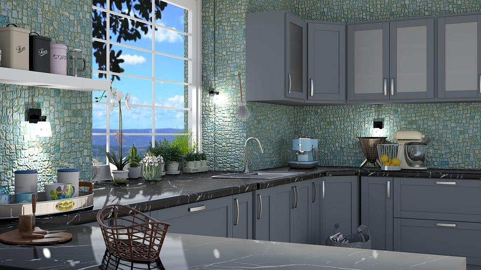 Kitchen, Tile, The Interior Of The, Surface, Design
