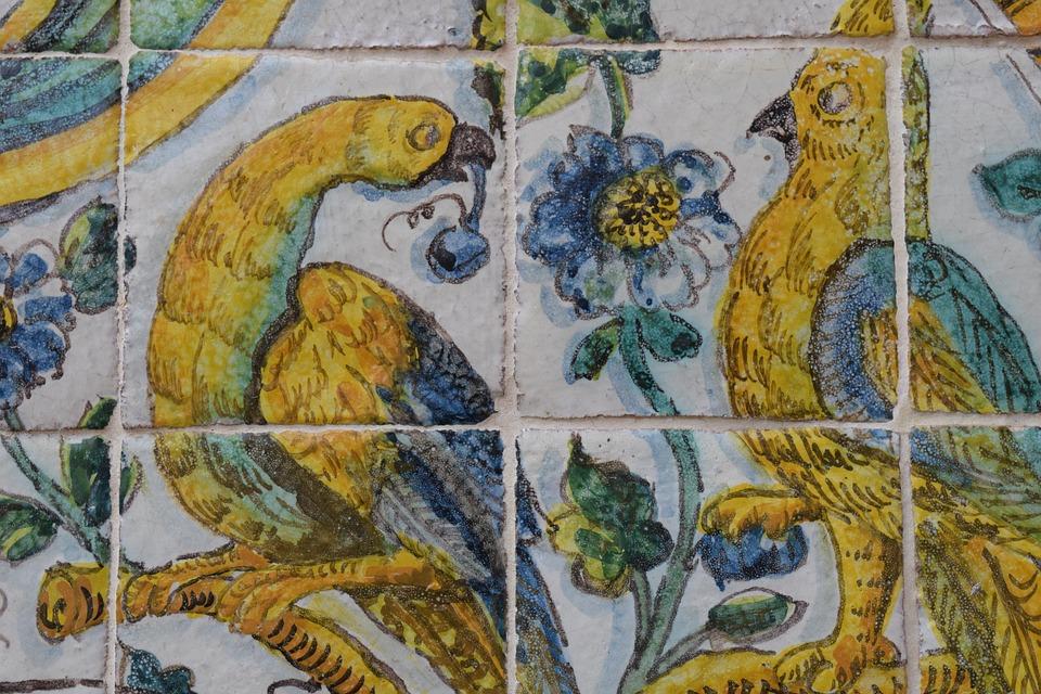 Free Photo Tiles Decorative Ceramic Birds Handpainted Tile Max Pixel