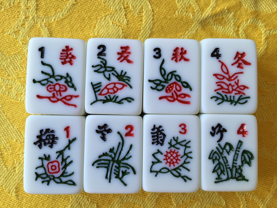 Mahjong, Tiles, Chinese, Game, Find A Pair