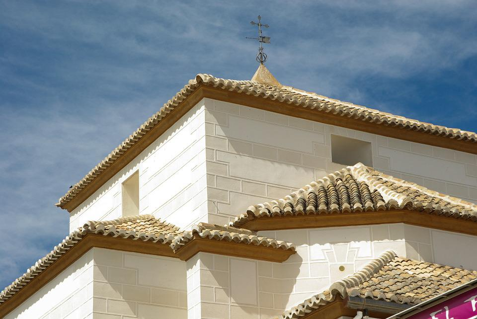 Spain, Lorca, Roofing, Tiles, Church