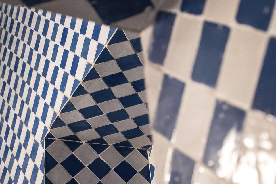Abstract, Tiles, Old Kitchen, Pattern, Geometric, White