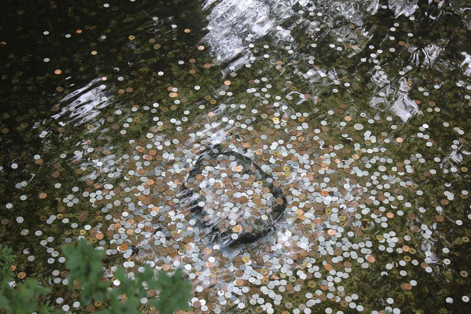 Coins, Water, Money, Time, Flow, Breeze
