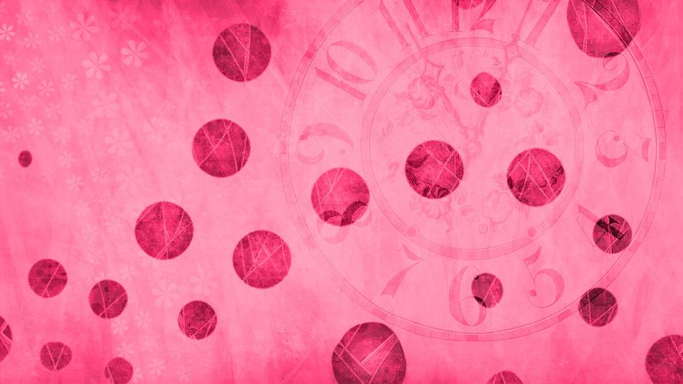 Bubbles, Circles, Clock, Time, Background, Scrapbook