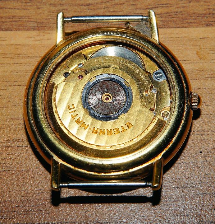 Clock, Swiss Watch, Eterna-matic, Automatic, Time