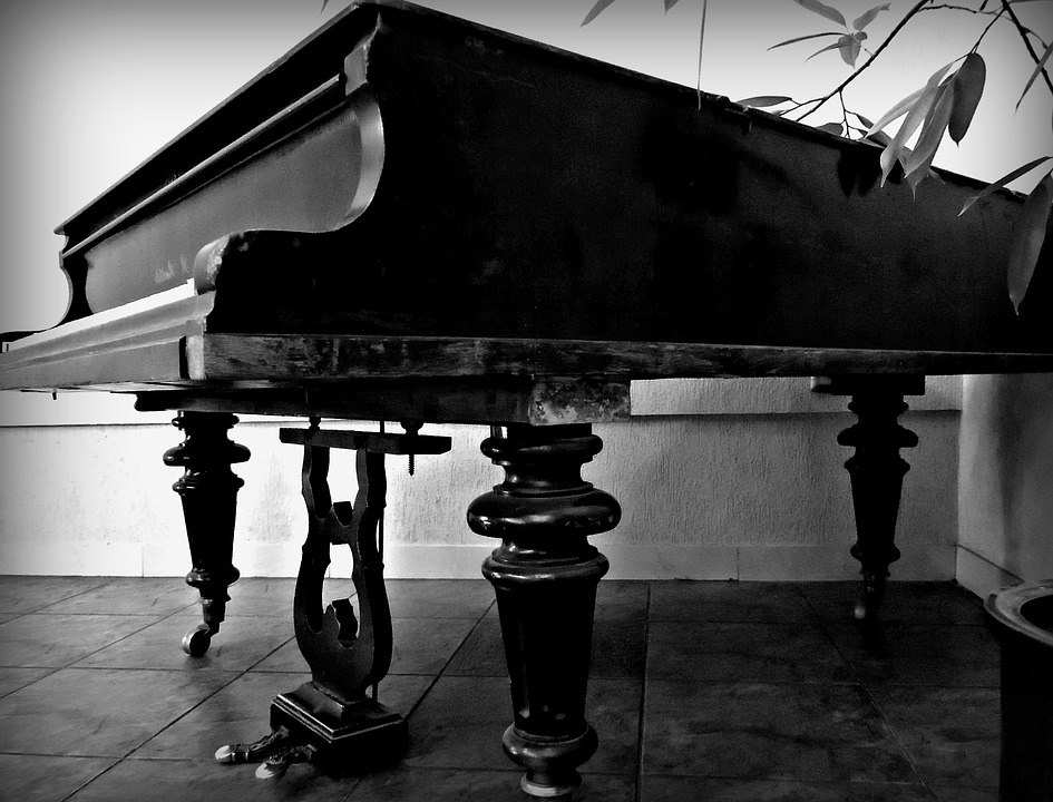 Old, Grand Piano, Music, Time, Piano, Keys, Concert