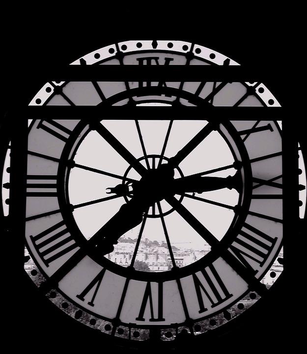 Clock, Time, Window, Paris, Notre Dame, Notre-dame